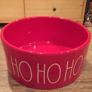 """Rae Dunn ceramic """"Ho Ho Ho"""" pet dish."""